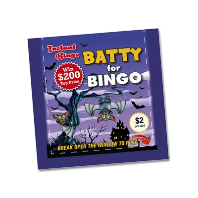 BATTY FOR BINGO $2 INSTANT BINGO TICKET