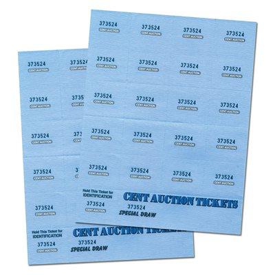 CENT AUCTION TICKETS