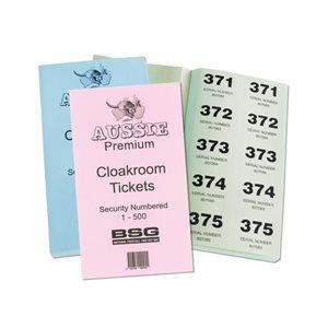 PREMIUM CLOAK ROOM TICKETS 1-500