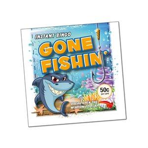 GONE FISHING  50c LUCKY ENVELOPE