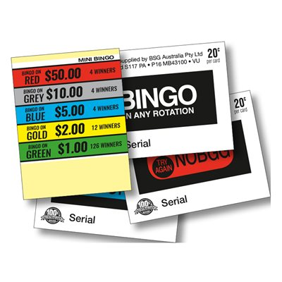 MINI BINGO 4 x $50 LUCKY ENVELOPES