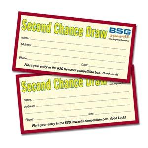 BSG REWARDS QLD 2ND CHANCE DRAW ENTRY TICKETS