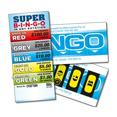 SUPER BINGO 6 x $100 LUCKY ENVELOPES